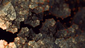 Earthy gold glyn flower flame fractal art stock image