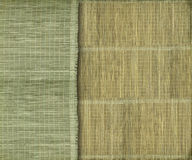 Earthy green and yellow bamboo background. Earthy green and yellow bamboo strip background royalty free stock photography