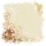 Earthy Scrollwork. Digital illustration in warm colors royalty free illustration