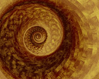 Earthy Spiral. Abstract fractal spiral in warm earth tones Stock Images