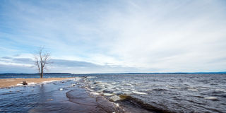 Eary Frühling See Champlain Stockfotos