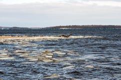 Eary Frühling See Champlain Stockbild
