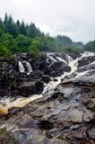 Eas Urchaidh waterfall on river Orchy, Scotland Royalty Free Stock Image