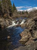 The Easan Dubha falls in Glen Orchy royalty free stock photo