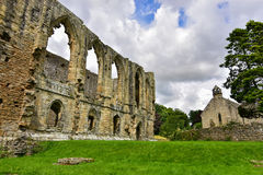 Easby Abbey. In Richmond, England royalty free stock images