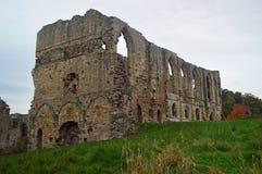 Easby abbotskloster nära Richmond Yorkshire arkivbilder