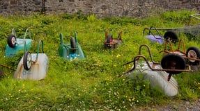 Easdale wheelbarrows Royalty Free Stock Photos