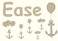 Ease with anchors Stock Photo