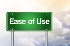 Ease of Use Green Road Sign Royalty Free Stock Photos