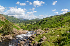 Easedale Beck regardant vers Grasmere Images stock