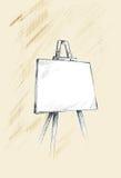 easel σκίτσο διανυσματική απεικόνιση