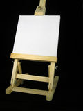 Easel. With white canvas for a picture of a product or service Stock Image