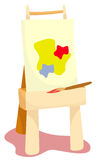 Easel. Illustration  of isolated an easel on white background Stock Image