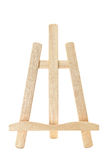 Easel. Wooden easel isolated on white background Royalty Free Stock Images