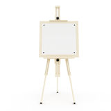 Easel. Wooden easel on the white background Royalty Free Stock Images