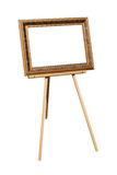 Easel with. A blank frame for the picture royalty free stock photography