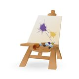 Easel. Vector image of easel with brush and paint Stock Images
