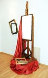 Easel Stock Photo