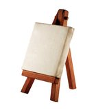 Easel. A customizable blank canvas on a wooden tripod Stock Photography