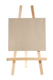 Easel. With blank canvas on white Royalty Free Stock Photo
