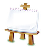 Easel. With blank paper isolated on the white background Stock Image