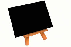 Easel with black canvas Stock Photos