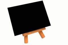 Easel with black canvas Stock Photos