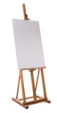 Easel with blank canvas Stock Photos