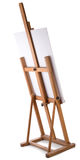 Easel with blank canvas Stock Photography