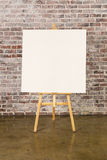 Easel with blank canvas Royalty Free Stock Images