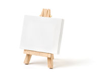 Easel with a blank canvas Royalty Free Stock Photography