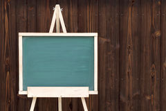 Easel with blank chalkboard Royalty Free Stock Photo