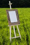 Easel with a blank sheet Stock Images