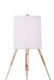 Easel with canvas Stock Images