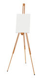 Easel with canvas Stock Photo