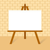 Easel with canvas Royalty Free Stock Image
