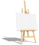 Easel and Canvas. Stock Images