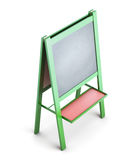 Easel for chalk  on white background Royalty Free Stock Photos