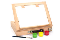 Easel gouache Royalty Free Stock Photos