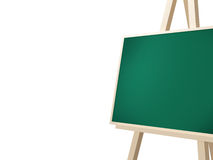 Easel with Green Board Stock Photos