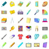 Easel icons set, cartoon style. Easel icons set. Cartoon style of 36 easel vector icons for web isolated on white background Stock Photos