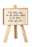 Easel with Message of Motivation Royalty Free Stock Image