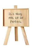 Easel with Message of Motivation royalty free stock photography