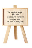 Easel with Message of Motivation Royalty Free Stock Photo