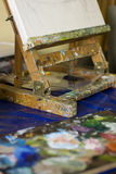Easel and palette Stock Photos
