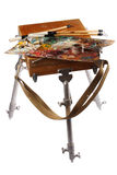 Easel and palette Stock Image