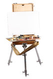 Easel and palette Royalty Free Stock Photography