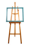 Easel and patina frame Royalty Free Stock Images