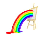 Easel rainbow Stock Photography