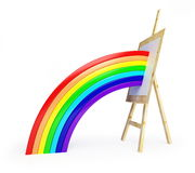 Easel rainbow Royalty Free Stock Image